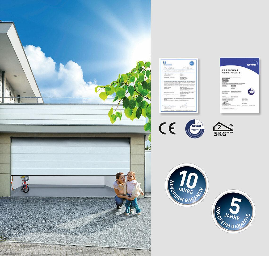 Novoferm szekcionált garázskapuk minőségi követelmények